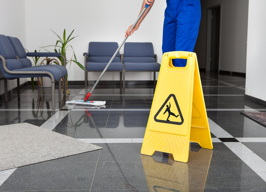 cleaner doing business cleaning